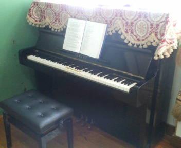 ピアノレッスン。